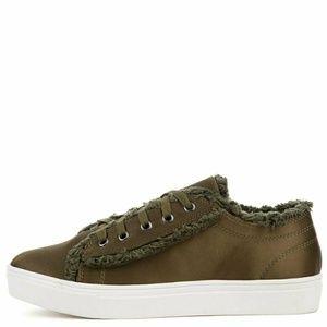 Cape Robbin Olive Platform Sneakers Funky Harajuku
